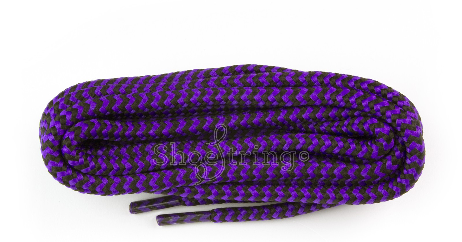 Hiking 150cm Purple/black Dog-tooth Laces