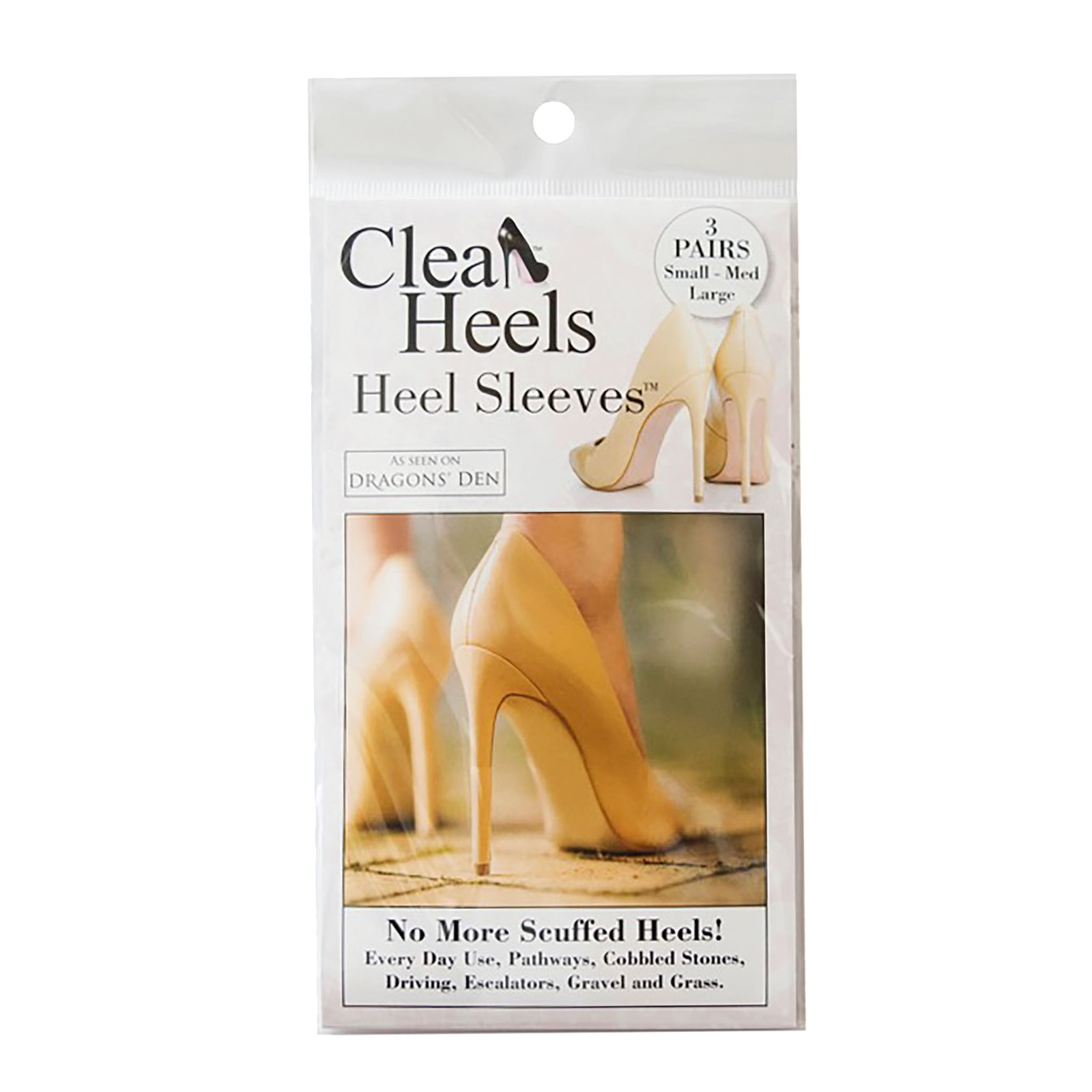 Clean Heels Heel Sleeves 3 Pair Pack Loose