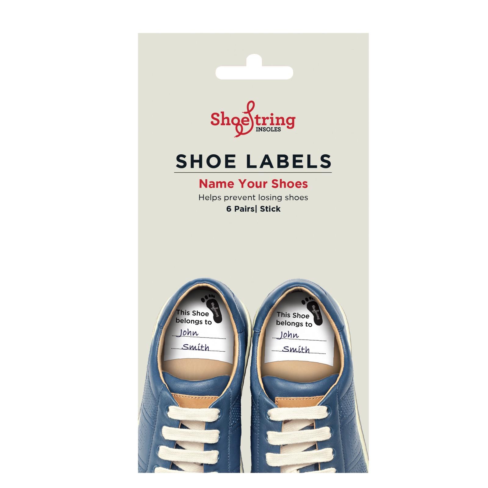 Shoe String Shoe Labels Pack Of 6