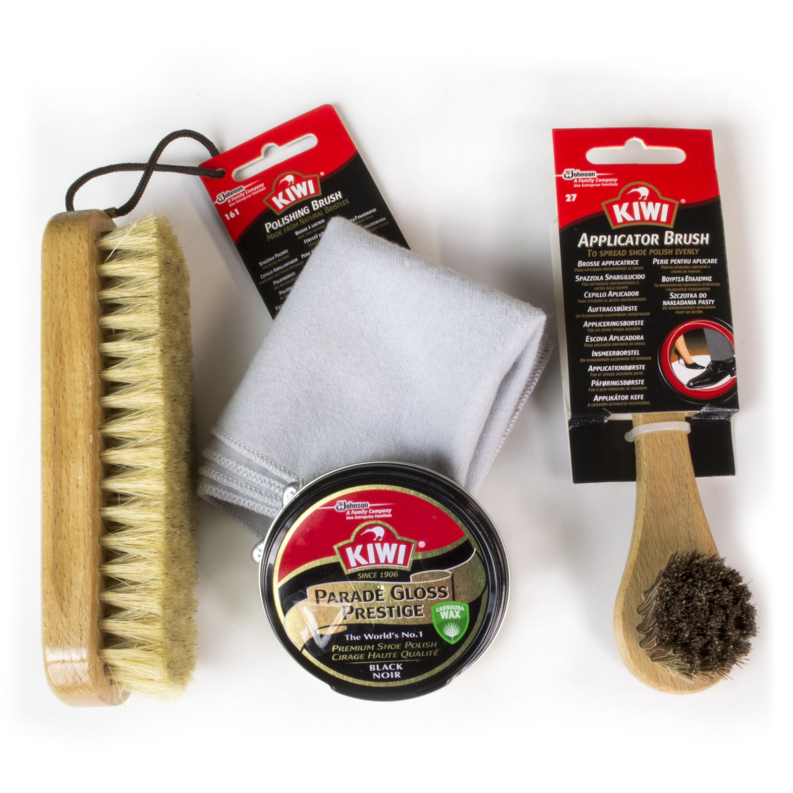 Kiwi-shoe Care Military Kit Black/brown/neutral