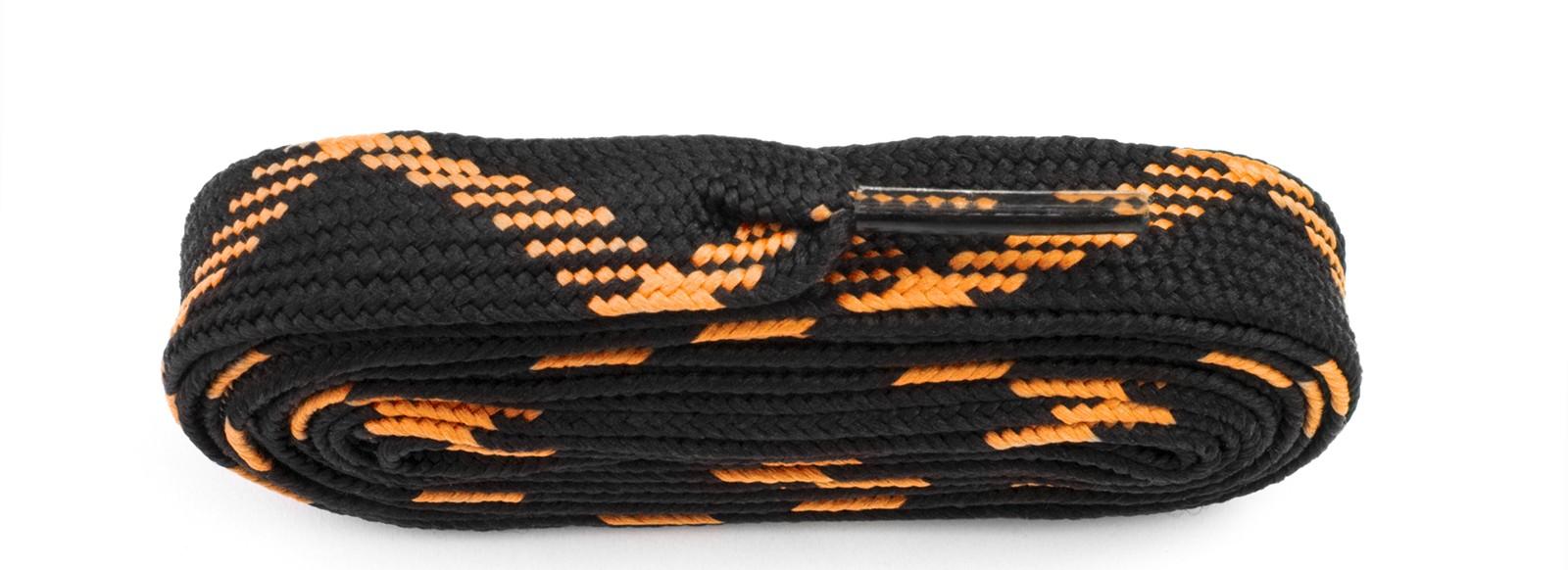 Black/flo Orange Fat Laces