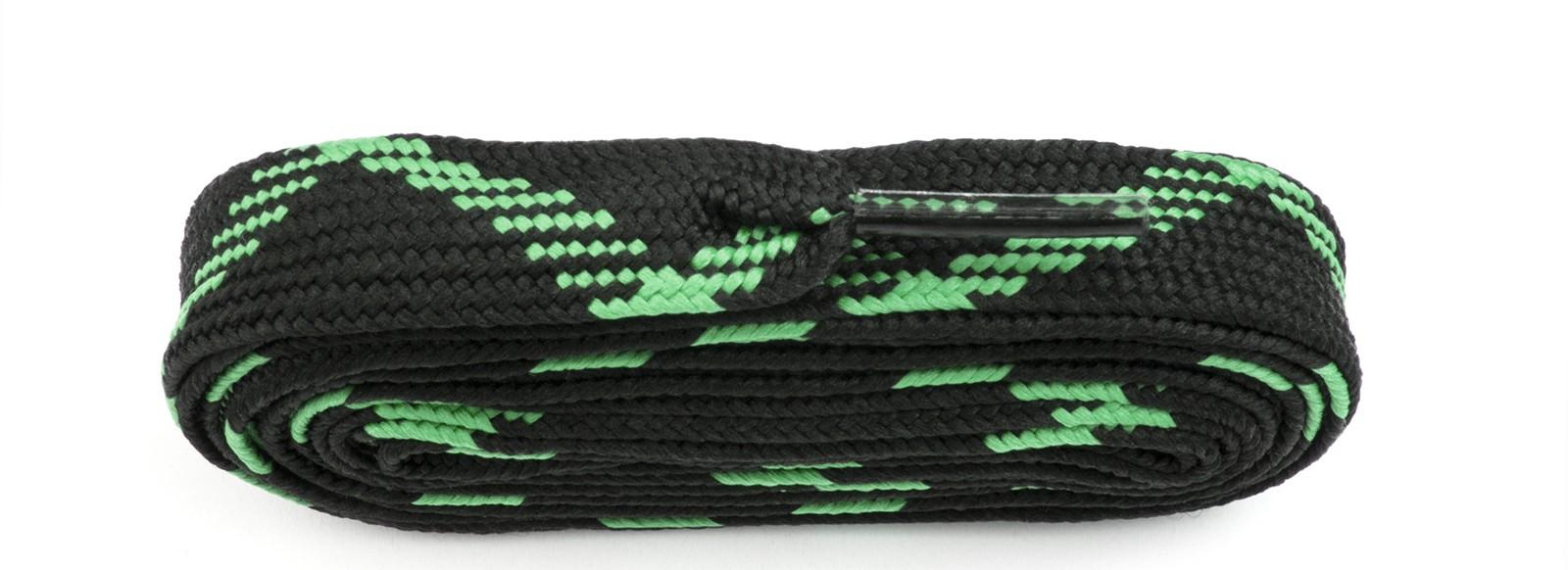 Black/flo Green Fat Laces