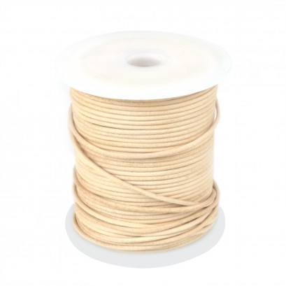 Natural 50mtr Leather Spool 2mm