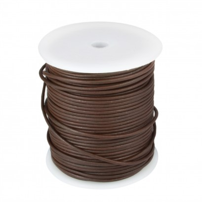 Brown 50mtr Leather Spool