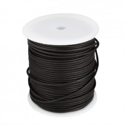Black 50mtr Leather Spool 2mm