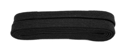 Black Flat 9mm Laces