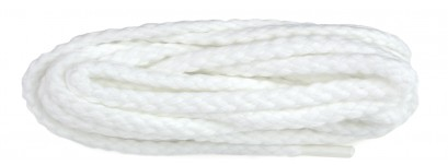 White Heavy Cord Laces