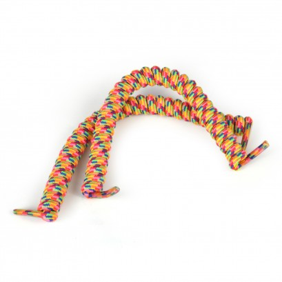 Rainbow No Tie Laces: Curly Shoelaces