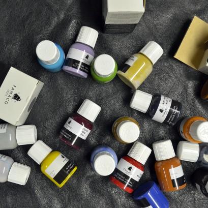Famaco Leather Renovation Dye Design Paint Liquid Select Colour