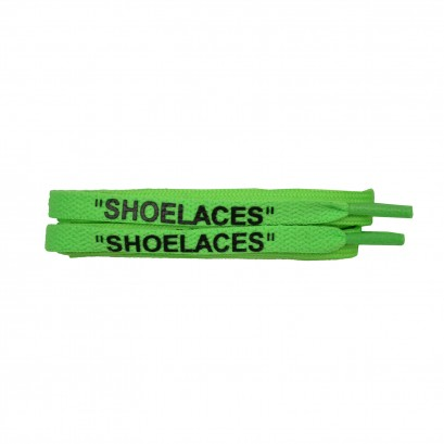 """shoelaces"" Off-white Style Laces Green"