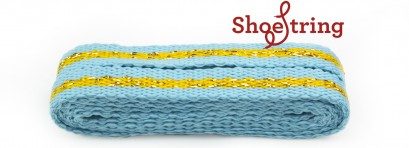 Sneaker Turquoise And Gold Stripe