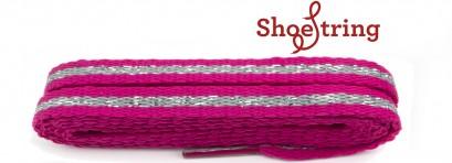 Sneaker Pink & Silver Stripe