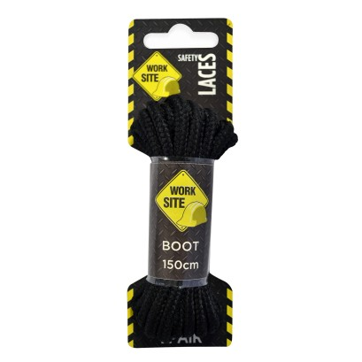 Black Worksite Laces Heavy Cord -