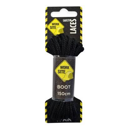 Black Worksite Laces Heavy Cord -