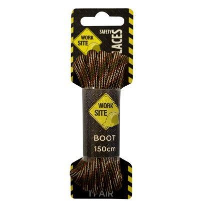 Worksite Multi Browns Laces Heavy Cord Select Length