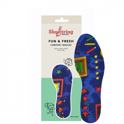 Shoe String Insoles Childs Pencil Printed Cut To Size