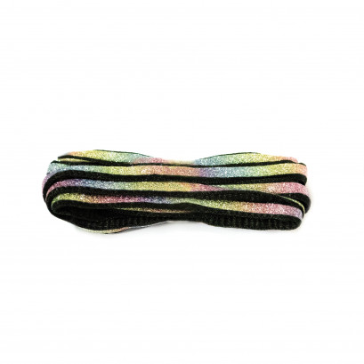 Black 90cm Oval Glitter Rainbow Strip