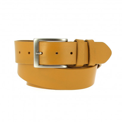 Belts Leather 40mm Jean Yellow 130cm