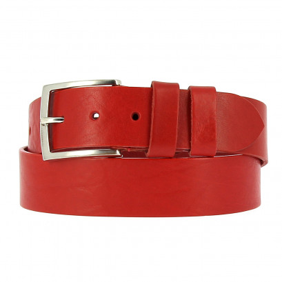 Belts Leather 40mm Jean Red 130cm
