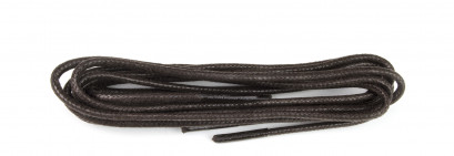 Brown 75cm Waxed 3mm Round Laces
