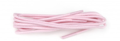 Pastel Pink Waxed 3mm Round Laces