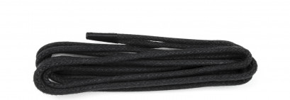 Black Waxed 3mm Round Laces