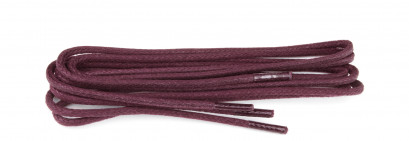 Bordeaux Waxed 3mm Round Laces