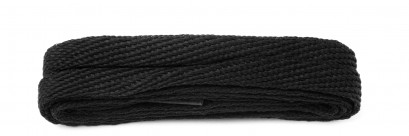 Black 120cm American Flat 10mm Laces