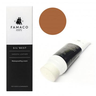 Famaco Dark Tan Porc Sil Best Leather Cream 75ml Tube