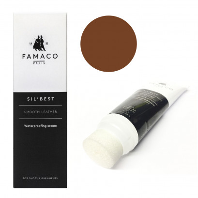 Famaco Dark Tan Havane Sil Best Leather Cream 75ml Tube