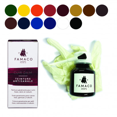 Famaco Dye Suede, Leather & Nubuck Permanent Dye