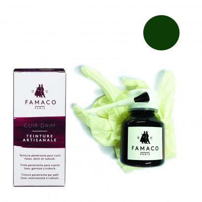 Famaco Green Dye Suede, Leather & Nubuck Permanent Dye