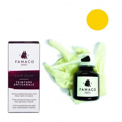 Famaco Yellow Dye Suede, Leather & Nubuck Permanent Dye