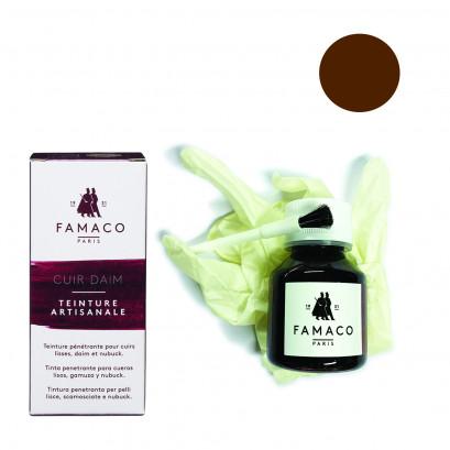 Famaco Medium Brown Dye Suede, Leather & Nubuck Permanent Dye