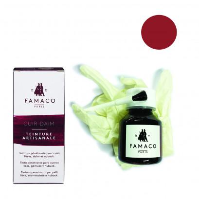 Famaco Red Dye Suede, Leather & Nubuck Permanent Dye