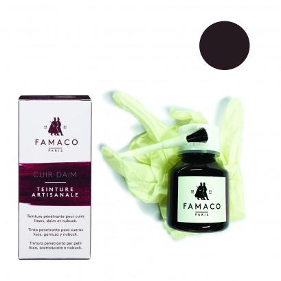 Famaco Dark Brown Dye Suede, Leather & Nubuck Permanent Dye