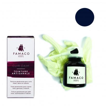 Famaco Navy Blue Dye Suede, Leather & Nubuck Permanent Dye