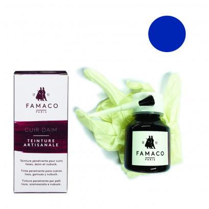 Famaco Intense Blue Dye Suede, Leather & Nubuck Permanent Dye