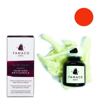 Famaco Safron Orange Dye Suede, Leather & Nubuck Permanent Dye