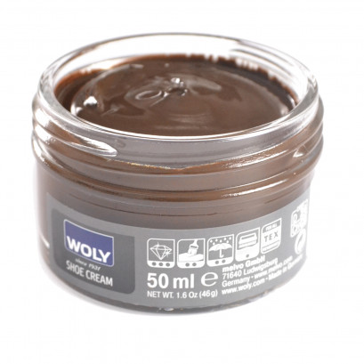 Woly Dark Brown Cream Polish 50ml
