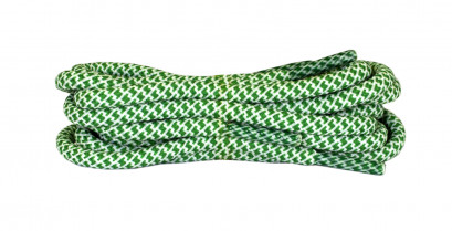 Green & White 120cm Honeycomb Mosaic Laces