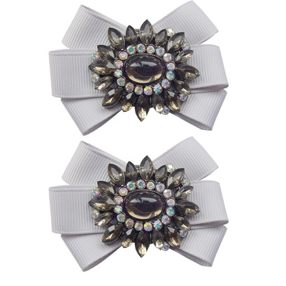 Shoe Clips Cinders Silver