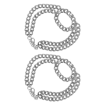 Shoe Clips Boot Oval Buckle Chain