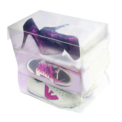 Shoestring Clear Shoe Box Pack 3 Units