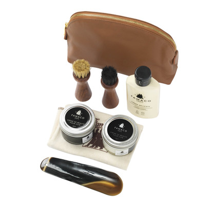 Famaco Brown Trousse Leather Care Kit