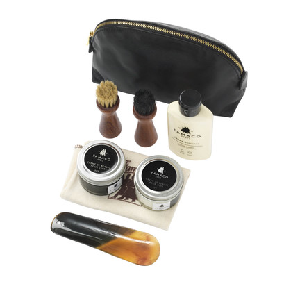 Famaco Black Trousse Leather Care Kit