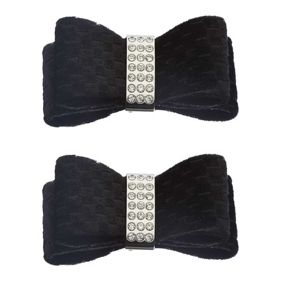 Shoe Clips Double Velvet Bow