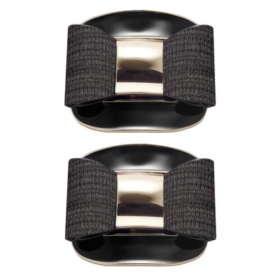 Shoe Clips Black Lacquer Buckle