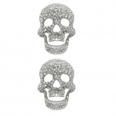 Shoe Clips Diamond Skull