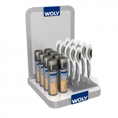Stand Woly Counter Addition Acrrylic Suede Brushes